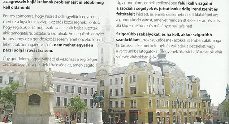 Menniük kell Pécsről a hajléktalanoknak