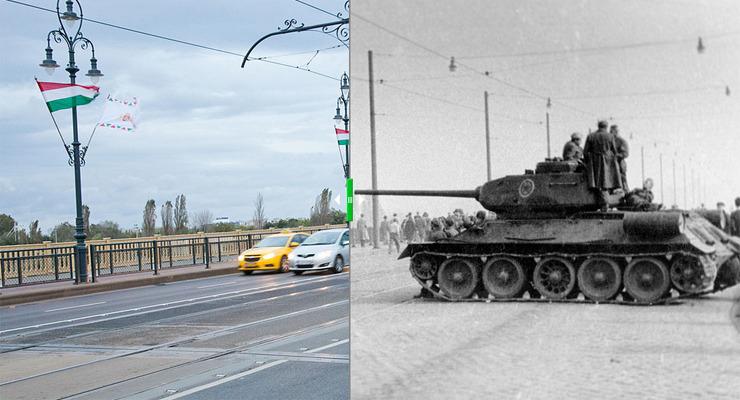Az 1956-os forradalom budapesti helyszínei akkor és most