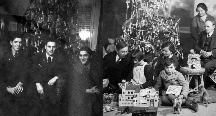 A huszadik század első felének karácsonyfái