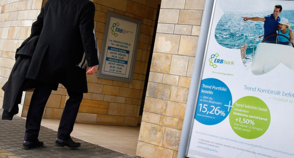 Az Észak-magyarországi Regionális Bank Zrt. (ÉRB) bejárata Miskolcon | Forrás: MTI/Vajda János