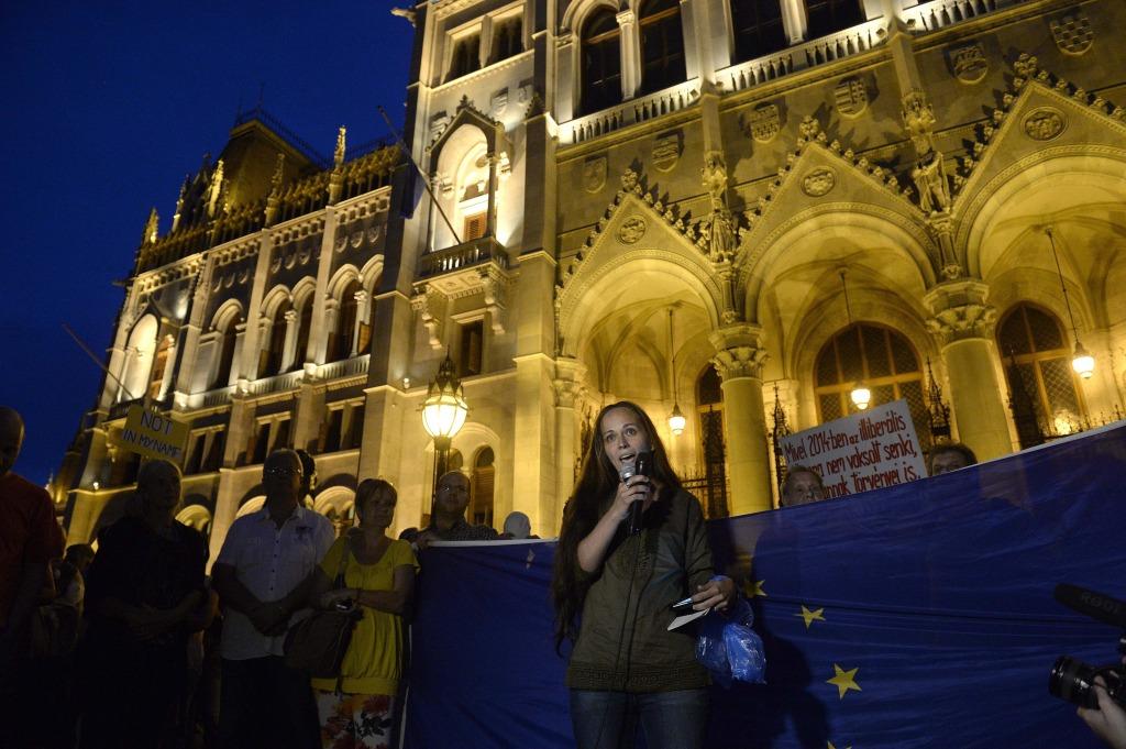 Zsohár Zsuzsanna, a Migration Aid szóvivője | Fotó: Bruzák Noémi (MTI)
