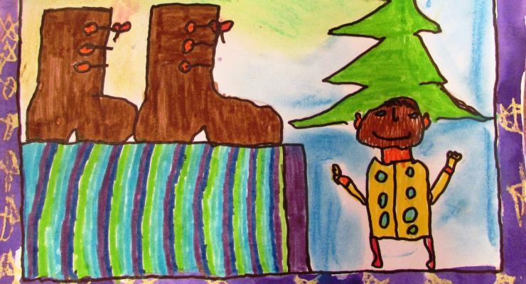 A karácsonyfában egy manó lakik