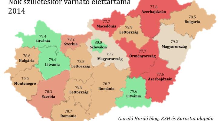 A borsodi férfiak addig élnek, mint az azeriek