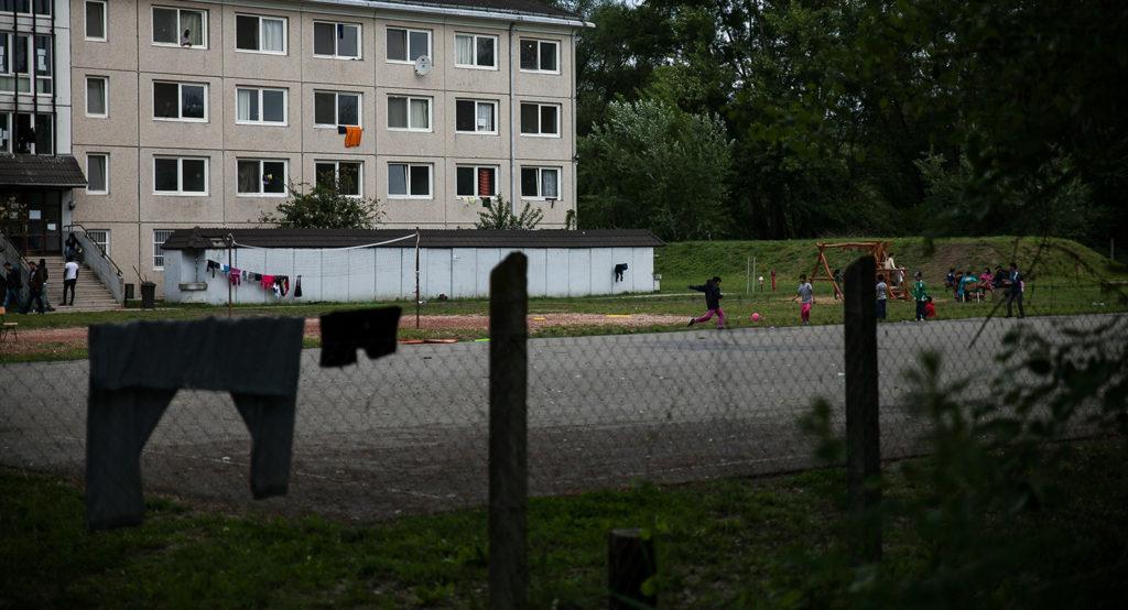 A Vámosszabadiban működő befogadó állomás 2016 májusában | Fotó: Magócsi Márton